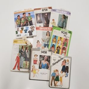 Simplicity Pattern Lot of 8 70's 80's